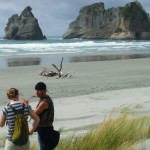 Trading Stories on Wharariki Beach