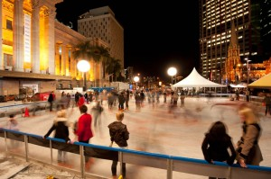 Ice Skating in King George Square