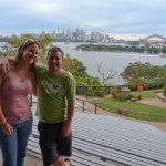 James and me in Sydney