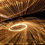 Zooming in on the steel wool