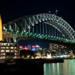 The Sydney Harbour Bridge at night