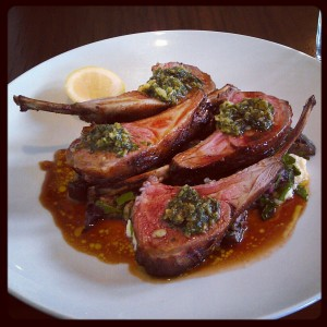 Amazing Lamb Cutlets at Pegasus Bay Winery
