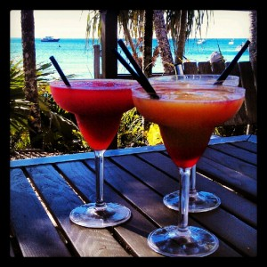 Strawberry Daiquiris on the Beach at Fitzroy