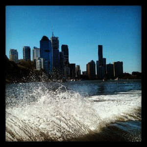 Cruising on the Brisbane River