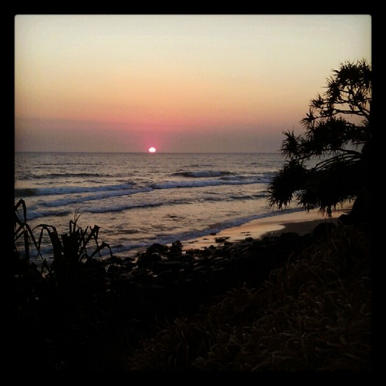 Sunrise at Burleigh Heads