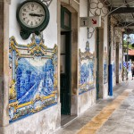 Clocks and Murals at Pinhão Train Station