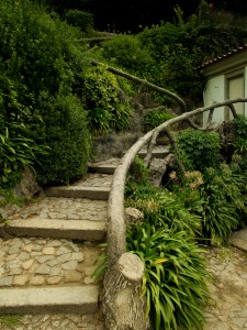 The stairs up to the gazebo.