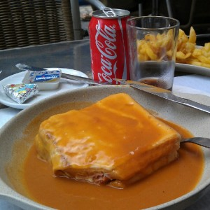 Francesinha in Porto