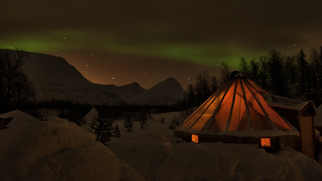 The Northern Lights Over My Lavvu & Whatu0027s It Like Sleeping in a Tent When Itu0027s -20C? | A Pair of ...