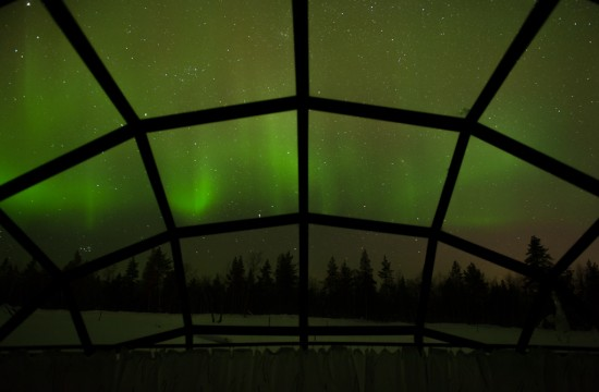 Northern Lights from Inside my Igloo
