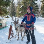 Reindeer Herder and One of His Herd