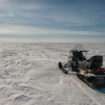 Snowmobiling on the Icy Gulf of Bothnia