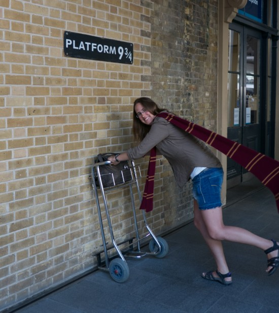 Taking my Travelon to Platform 9 3/4