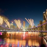 Riverfire Waterfall