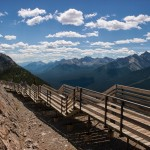Standing High Above Banff On Top Of Sulphur Mountain