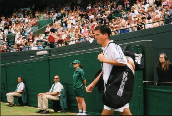 Tim Henman Walking On Court