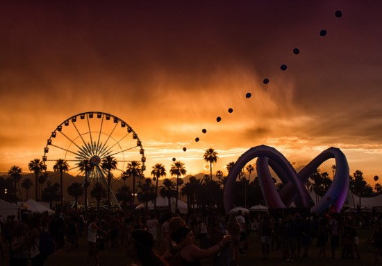 Stormy Coachella Sunset