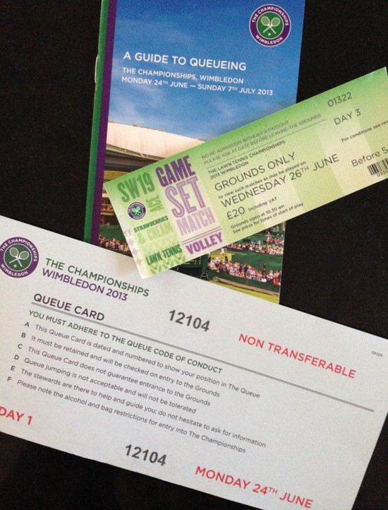 Queue Card and Tickets