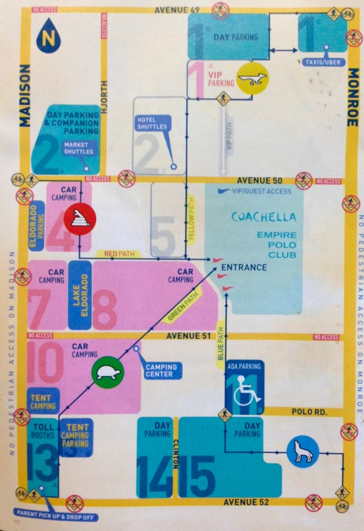 Coachella Grounds Map
