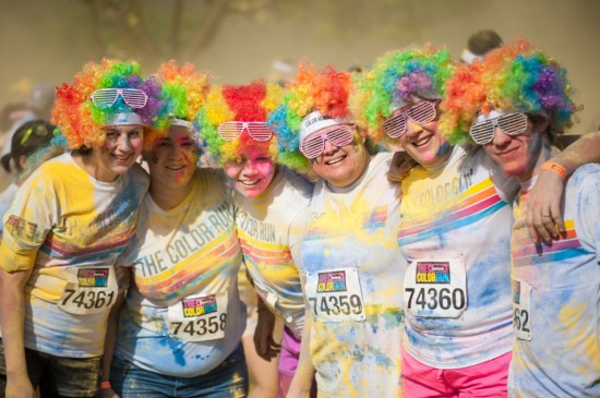 Clowns at the Colour Run