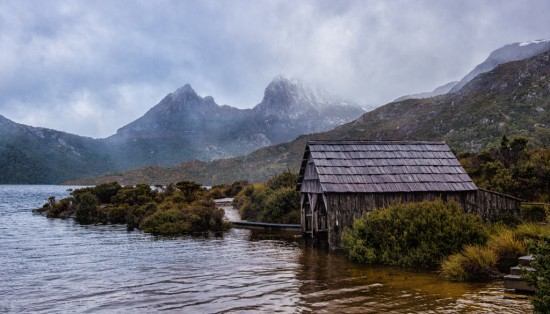 Cradle Mountain Nearly Peeking Out