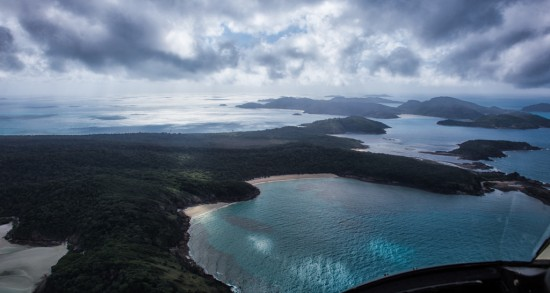Flying Over Whitsunday Island
