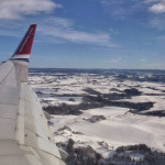 Flying into Oslo