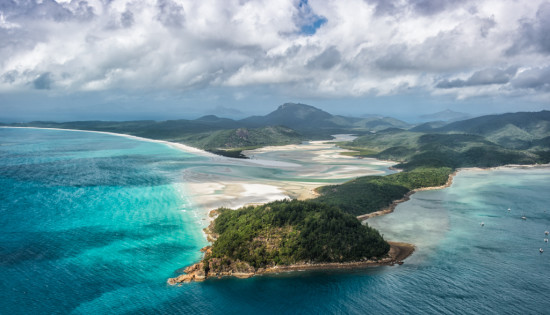Helicoptering Over Hill Inlet