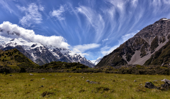 High Clouds over the Hooker Valley