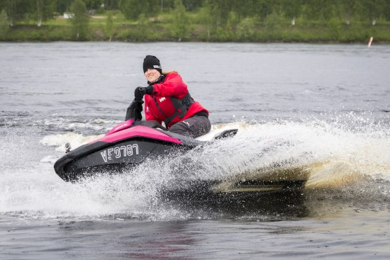 Horsing Around on a Jetski