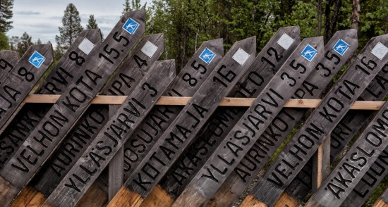 Fence of Trail Signs