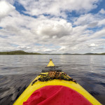 Kayaking on Menesjärvi