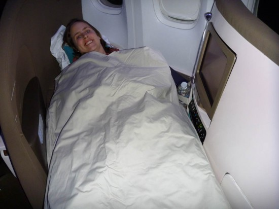 In Air New Zealand Business Class