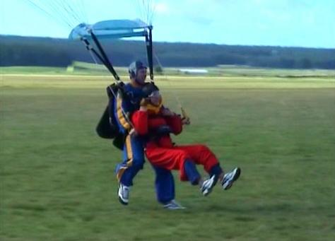 Landing from my skydive
