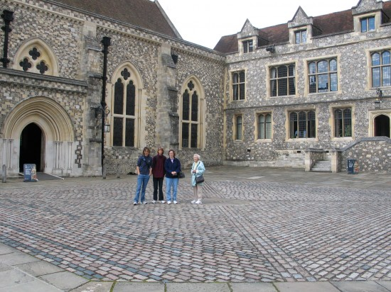 Outside the Great Hall