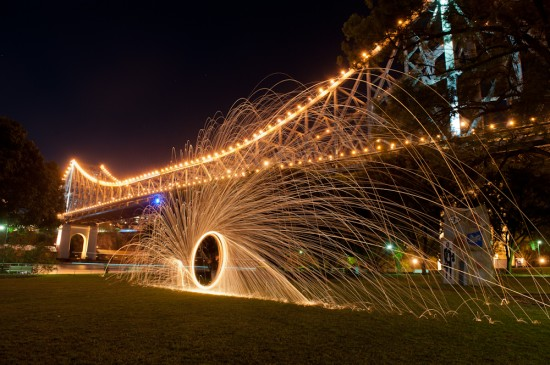 June 2012: Steel Wool Burning under the Story Bridge