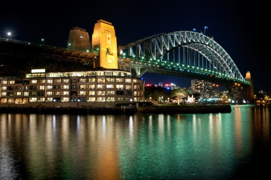 June 2012: The Sydney Harbour Bridge at Night