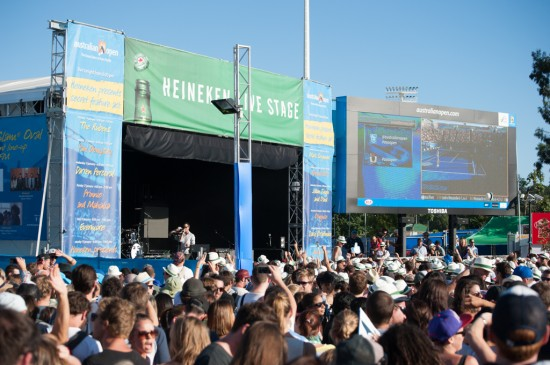 The Presets play at the Australian Open