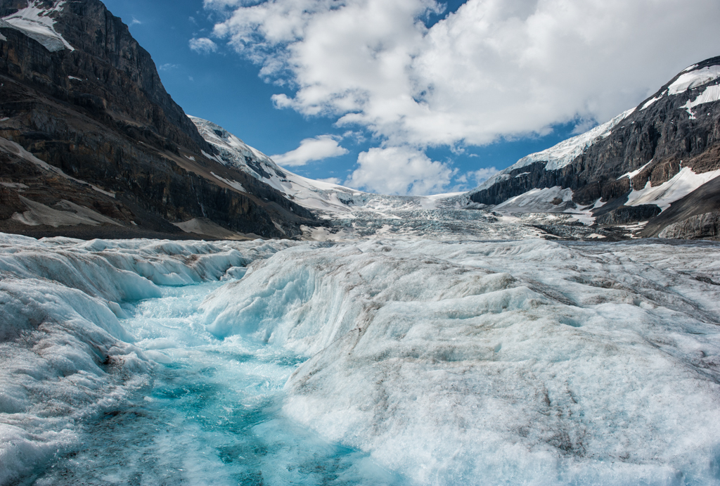 The Melting Majesty Of The Athabasca Glacier A Pair Of