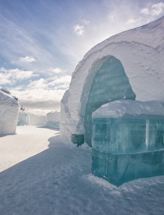 The Icehotel from the Outside