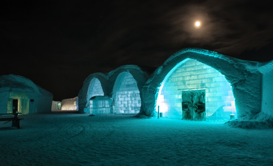 The Icehotel Under the Full Moon